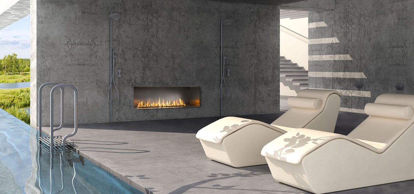 J Series M1 Single Sided Outdoor Gas Fireplace